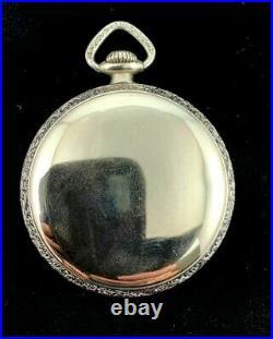 Illinois 16s 21j Central Railroad Style Pocket watch Fancy Case Near Mint