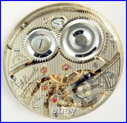 Illinois A Lincoln 21 Jewel 12s Scarce Hunting Case Pocket Watch Mvt
