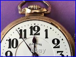 Illinois Bunn Special in First model Bunn case. Running, 60 hour, 21 jewel Rail