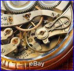 Illinois Burlington Grade 107 PocketWatch 21j Salesman Case Montgomery Dial F234