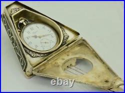 Imperial Russian award silver Longines watch&silvered/Malachite Balalaika case