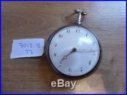 LONDON JOHN HARDY RARE ANTIQUE FUSEE VERGE PAIR CASED POCKET WATCH DATES c1805