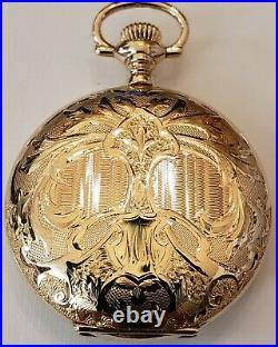 Lady Waltham 0 size 16 jewels adjusted, near mint 14K filled hunter case (1904)