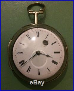 Large Late Georgian John Ward London Sliver Cased Pocket watch