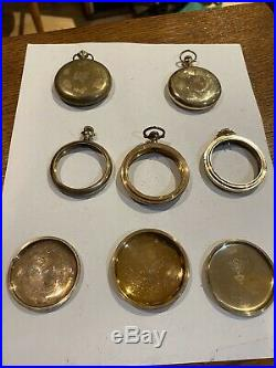 Large Quanity 185.9 GramAntique Gold Filled Pocket Watch Cases Fix Or Scrap Gold