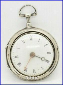 Late 1700s/Early 1800s Pair Cased Fusee Pocketwatch Needs Work/Parts