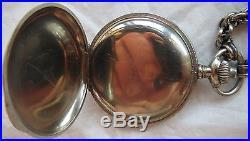 Lip Chronograph Pocket watch open face nickel chromiun case enamel dial run