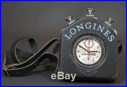 Longines Cal. 262 1968 Olympic Pocket Watch Stopwatch Rattapante Chronograph Case