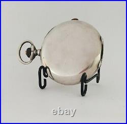 Longines Chronograph Pocket watch. 900 silver case enamel dial all original