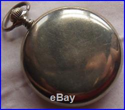Longines Pocket Watch open face nickel chromiun case refinished Masonic dial