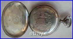 Longines Pocket Watch silver hunter case 49,5 mm in diameter enamel dial