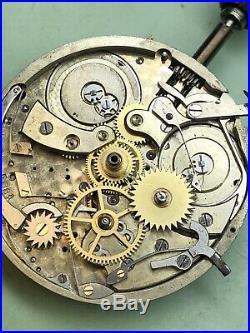 Louis Audemars 18k Independent Dead Seconds & Calendar Hunter Case Pocket Watch