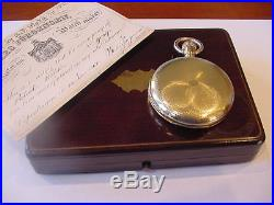 Magnificent 1860 Jules Jurgensen 18k Hunting Case Antique Watch! 156 Years Old
