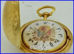 MUSEUM Georgian 18k gild silver pair case Verge Fusee Ottoman pocket watch c1730