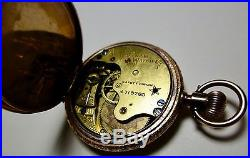 Magnificent! SOLID 10K GOLD 1890 WALTHAM 6/S HCHeavy Drum Case Pocket Watch