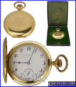 Men's Tiffany & Co. Patek Philippe 18K Yellow Gold Hunter Case 20 J Pocket Watch