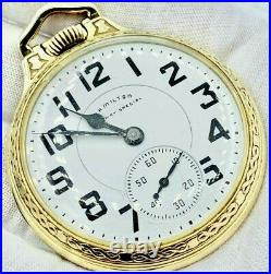 Minty Hamilton 992b Railroad Pocket Watch In Excellent Condition In Boc Case