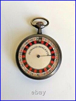 Monaco Roulette Depose type pocket watch open face nickel chrome case