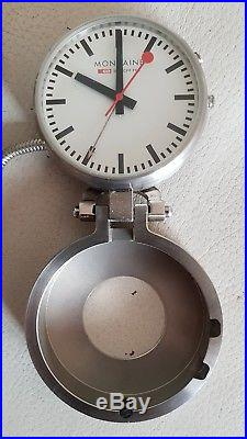 Mondaine Watch Ltd pocket watch, Official Swiss Railway Design with case