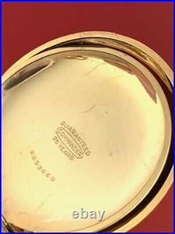 NICE HAMPDEN CHAMPION 7 JEWEL 18 SIZE MULTI-COlOR HUNTING CASE POCKET WATCH
