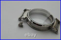 New 46mm Stainless Steel Case for Conversion Pocket Watch Movement 15,5 mm thick