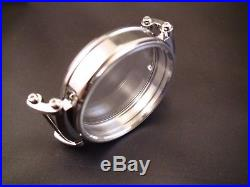 New 47 mm Stainless Steel Case for Conversion Antique Pocket Watch Movement