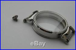 New 48,5 mm Stainless Steel Case for Conversion Antique Pocket Watch Movement