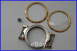 New 48,5 mm Stainless Steel Case for Conversion Pocket Watch Movement