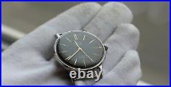 New! Poljot De Luxe Extra SLIM Watch Men's Vintage USSR Case Stainless Steel