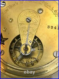 New York Standard Worm Gear pocket watch, Rare original hunter case, Overhauled