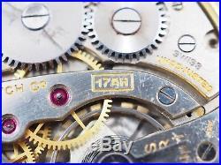 Nice Antique Running 1947 Bulova 17 Jewel 10kt Rolled Gold OF Case Pocket Watch