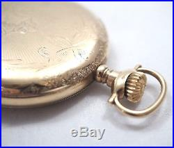 Old Antique Wadsworth Pilot 16s 25yr Double Hunter Pocket Watch Case Only