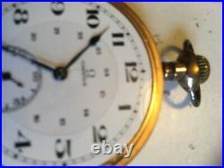 Omega Swiss 17 Jewel Pocket Watch, Open Face, Gilt Canadian Made Case