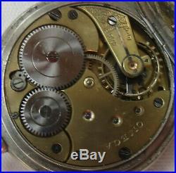 Omega pocket watch nickel chromiun hunter case 52 mm. In diameter