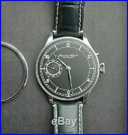 One-Off Watch Antique 1910s IWC Pocket Watch Movement in Custom 46mm Steel Case