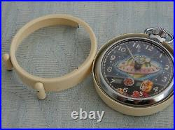 Original From Outer Space double Automaton Pocket watch & Original case, works