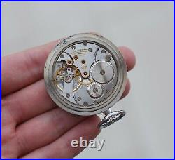Orologio Longines vintage pocket watch case manual winding PERFECT