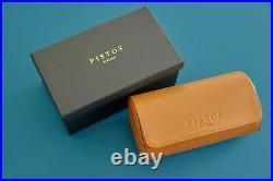 PISTOS Artisan 2 slot Case Travel Pouch Roll Wrist watch Genuine Leather