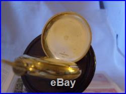 POCKET WATCH ANTIQUE 1920s OMEGA 15 JEWEL 14CT GOLD FILLED CASE POKER DIAL FWO