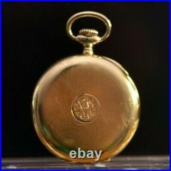 Patek Philippe Pocket Watch 18k Gold Case & Certificate 51mm Gondolo 20 Lines