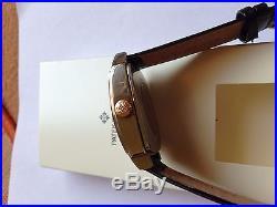Patek Philippe pocket watch movement custom made steel case watch service box