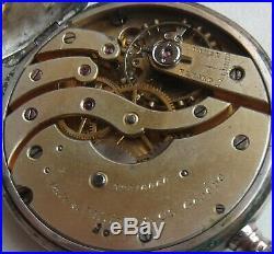 Patek Philippe pocket watch open face silver case 52 mm. In diameter