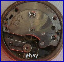 Pendant watch enamel & gold plated case enamel dial balance Ok