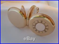 Pocket Watch Antique 1904 Waltham USA 7 Jewel 9ct Gold Filled Half Hunter Case