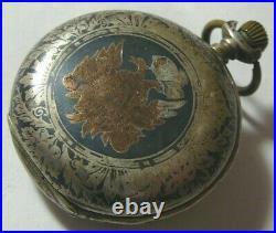 Pocket Watch Case Double Eagle Silver RemontoirAncre ligne droite spiral breguet
