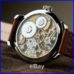 Pre-Order Omega marriage skeleton antiques pocket watch in art deco case dial