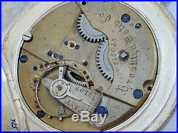 Qb5 Massive 4 Oz Coin Silver Hunting Pocket Watch Case CIVIL War Brooklyn Nice