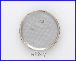 RARE 37mm Nicolet 1930s Silver Case Chronograph Men's Wrist Watch with great dial