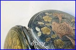 RARE Antique 1894 Waltham Royal Pocket Watch Silver&Gold Fancy Hunter Case Parts