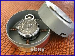 RARE Hamilton 4992B U. S. Military Navigation Pocket Watch with USAC Case c1941